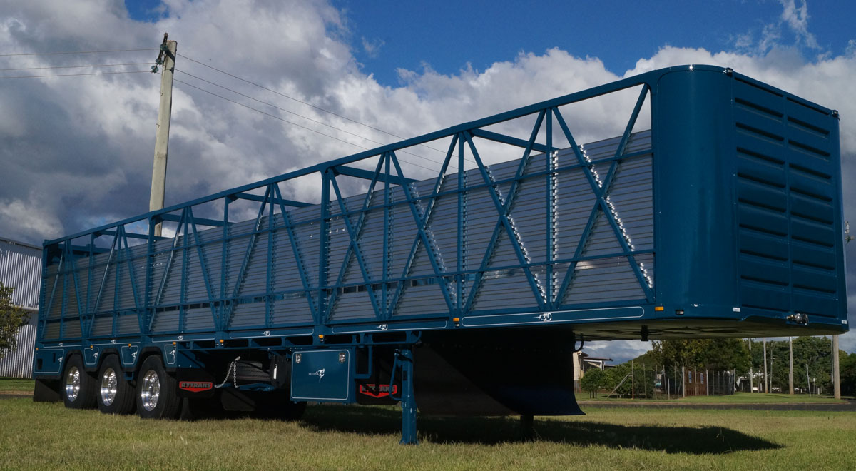 48ft Customised Single Deck Cattle Trailer